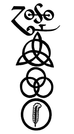 led zeppelin 4 symbols