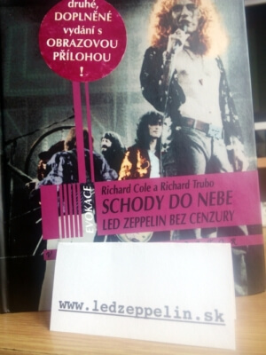 kniha schody do nebe od Richard Cole Led Zeppelin